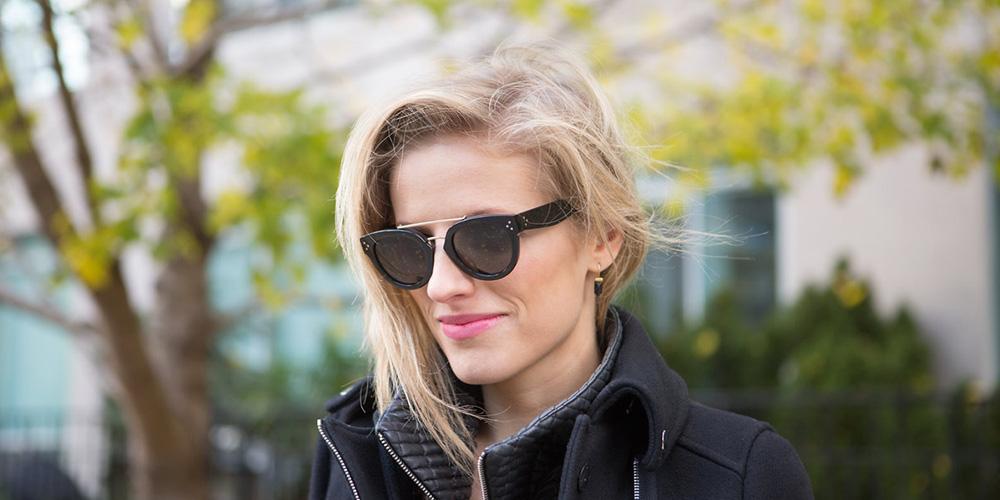 Llevar gafas de sol en invierno no es ninguna tontería.